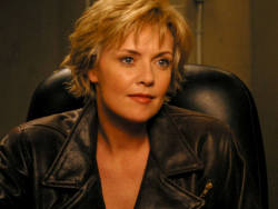 racethewind10:  fewthistle:  Amanda Tapping (She'll always be Samantha Carter to me. I do love her as a blonde. And in leather.)  not fussed about the blonde or brunette but I WHOLLY endorse her in leather.