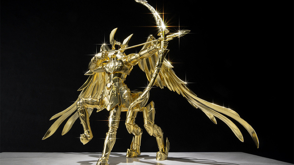 Bandai's Saint Seiya line of toys is now ten years old. What better way to celebrate than with a solid gold statue? (It's worth sixty million yen.)