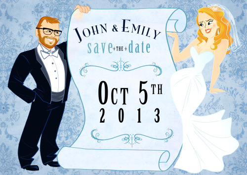 Emily and John's Save the Date.