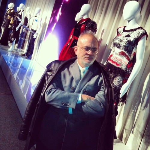 Sneak peek ! The METs upcoming Chaos to Couture- and BG's David Hoey who will mastermind our windows to support the exhibition - Linda #nyfw #bgwindows