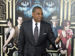 Jay-Z attending the premiere of The Great Gastby in New York City on Wednesday night. I wonder what Hov thought of the film?