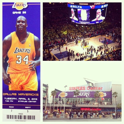 It's an honor to witness a Laker history. Best Center I've ever seen play the game. Lakers blowout 101-81 #shaq34 #lakers  (at STAPLES Center)