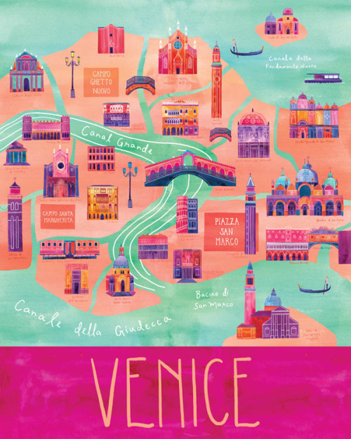"weandthecolor:  Here & There - City Map Illustrations Cityscape illustrations of Paris, San Francisco, Vancouver, Venice, and Milwaukee from the series ""Here & There"" by Marisa Seguin. More of the city map illustrations on WE AND THE COLORWATC//Facebook//Twitter//Google+//Pinterest"