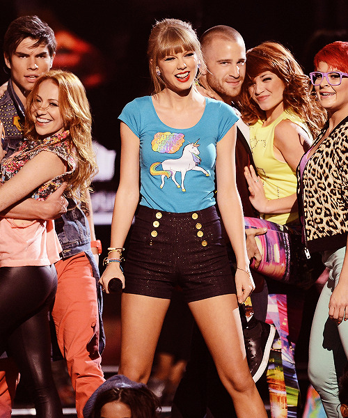 Taylor after performing '22' at the Billboard Music Awards