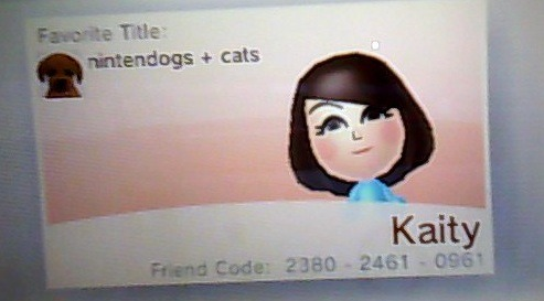 kaitycrossing:  New 3DS Friend Code!  Never got around to posting it since I went from a regular 3DS to my brand new pink 3DS XL! Name: KaityFriend Code: 2380-2461-0961 On a side note, I have Daisy and Maggie now added. Send me a ask with your code and I'll add you too.  Reposting this for newer followers and others who have interest. I do have some restrictions though on who I add.. apologies! I will only add those who own a animal crossing blog, and/or whom I have spoken to or know. Otherwise I'd have a bunch of strangers and yeah. Again send me an ask or reply to this so I can add you back.