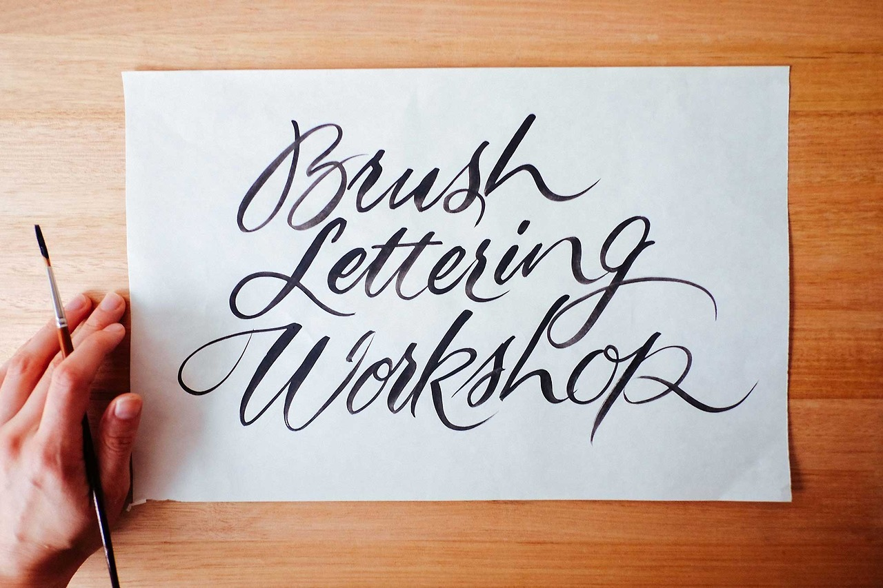 Brush lettering showcard workshops london new yorka round of
