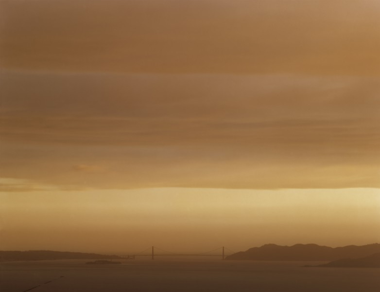 Golden Gate Bridge, 5.1.98, 7:50 pm, chromogenic printRichard Misrach