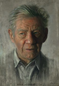 Sir Ian Mckellen by samspratt.tumblr.com
