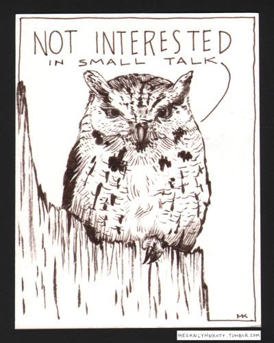 meganlynnkott:  BIG TALK ONLY! #inktober #31postcards