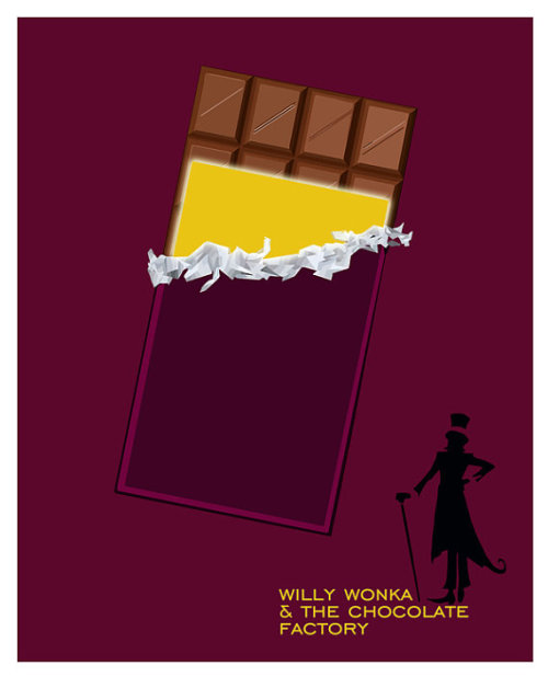 minimalmovieposters:  Willy Wonka and the Chocolate Factory by purplecowposters