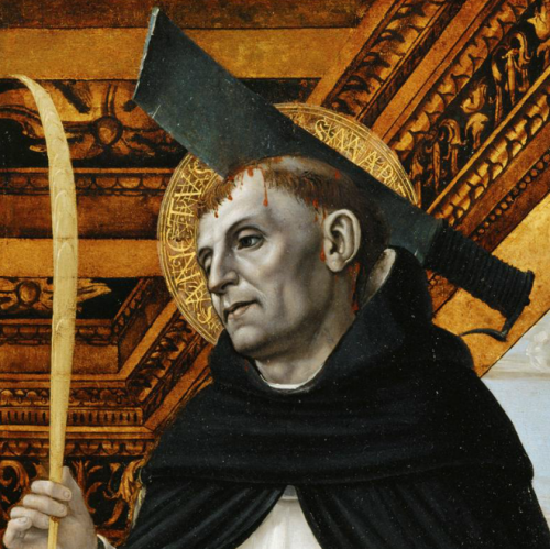 Ambrogio BergognoneDetail from Saint Peter Martyr and Kneeling Donor, c. 1490
