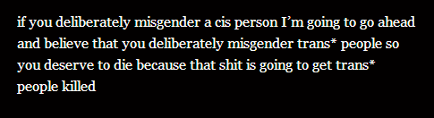 Misgender is murder.