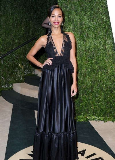 Zoe Saldanaat the 2013 Vanity Fair Oscar's After Party…