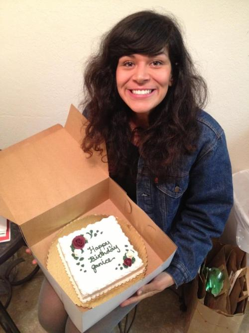 My best friend Courtney made me a beautiful vegan birthday cake and brought it to me yesterday. I am so thankful for all the wonderful people in my life. Now, who to share with!  I can't believe I will be 22 in like a week!