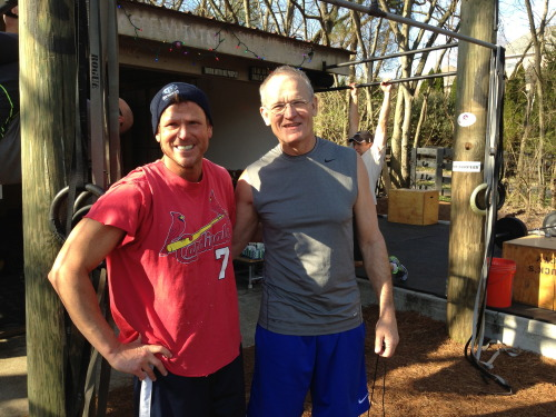 I was honored to get to workout last weekend with Dr. Allen Buck at Little Harpeth CrossFit. It seemed like everyone I met there was either a doctor or a nurse, so I didn't worry about dying during a CrossFit workout, for once. Today's workouts… Stair running, 40 floors CrossFit Helen 30-30 intervals x 15 minutes, bike trainer 100 burpees, for time 10 x 2 clean & jerk shuttle 3 minute handstand hold + 3 minute headstand hold Snowman building with 3 year old You?