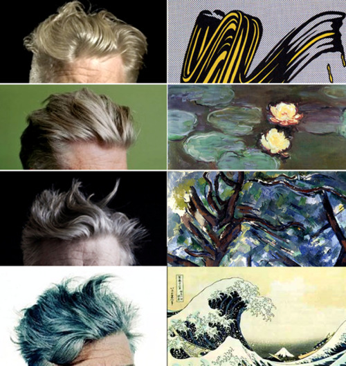likeafieldmouse:  David Lynch's Hair and Famous Works of Art: A Comparative Study (2011)