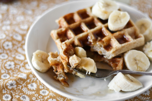 vintagefoods:  waffles! (by hannah * honey & jam)