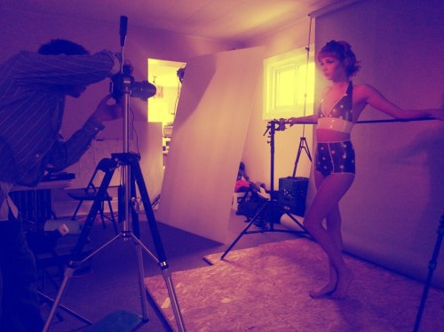 Behind the scenes. On set with with Bryan Hall Photography, Makeup By Dee, and our talented model Shantie in FDL Latex.
