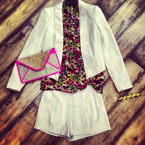 Cutest Summer Shorts Suit!💐 #supertrash #summer #suit #florals #womensfashion #fashion #style #stylish #trendy #trends #fashionista #lookbook #ootd #ootn #whatiwore #wiwt #outfitpost #outfit #potd #picoftheday #instafashion #outfit #bestoftheday #cute #girls #toronto #instadaily #instapic
