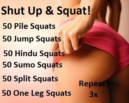 bikiniibootcamp:  Big booty squat workout, you will definitely feel the burn.