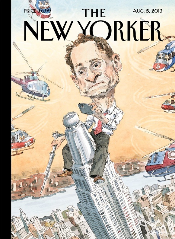 "ccindecision:  newyorker:  Read about next week's cover, ""Carlos Danger"" by John Cuneo, online now: http://nyr.kr/12p9PMc  Pretty much!  A relevant related comment on this topic, which coins a new phrase: Borny."