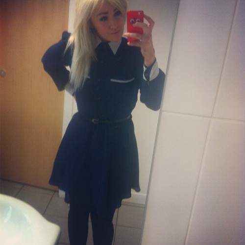 Wednesday Addams, style hero. #wiwt #ootd #blonde