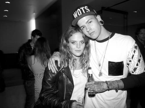 Travis T.Mills and Chelsea Schuchman world exclusive photo at the Purple bash at Milk Studio over the weekend. CLICK HERE TO SEE ALL OF THE PHOTOS! Photo by Brad Elterman
