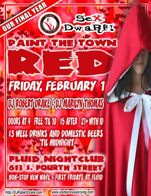 This Friday, Sext Dwarf Paints Fluid Red!