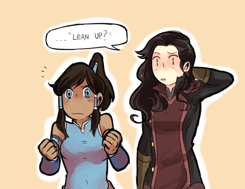 beroberos:  edasienta:  beroberos:  Asami likes you as you are Korra, you don't need to be taller ;D and I know sometimes it's hard to tell, but I really do like Mako.   dude why didn't she just… Idk… lifted herself with earth bending or something (anyways love your Korrasami as always *ª*)  was gonna do that originally, but I thought this version would be funnier  (and thank ya)