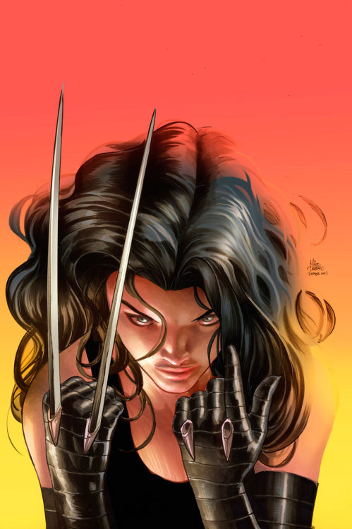 La pin-up del giorno: X-23, di Mike Deodato Jr. kandidkandor:  mikedeodatojr: X-23. Colors by Rain