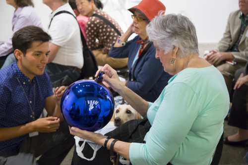 whitneymuseum:  Visitors who are blind or partially sighted and their companions joined us for a tour of Jeff Koons: A Retrospective conducted through verbal description and touch. Learn more about access programs at the Whitney.  Accessibility.