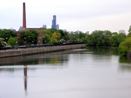 North Branch by reallyboring on Flickr.  This is Lathrop Homes on the northside of Chicago. I grew up here, I lived in the building just below the smoke stack.