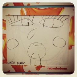 "My favorite kids' drawing from the REDCAT event: an original character, ""Case Mama!"" (Which is a misspelled version of Crazy Mama)."