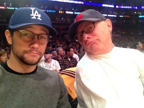 hitrecordjoe:  Me and papa. #Lakeshow Nuggets are for smoking.  PS: dat beard makes me wanna