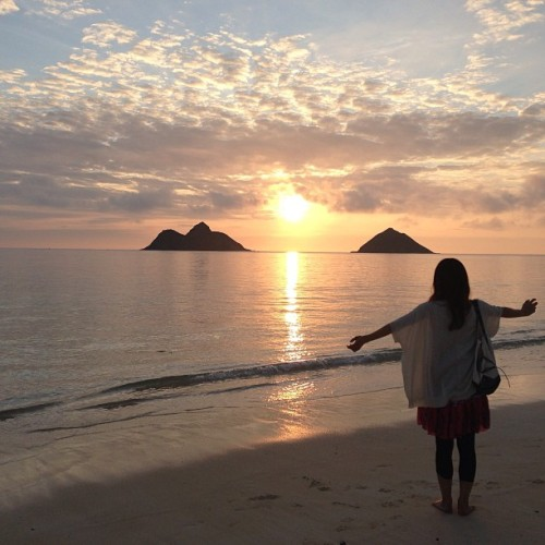 sunrise! (at Lanikai Beach)