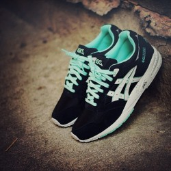 These just came in. Asics Gel Saga Black/Teal Kithnyc.com