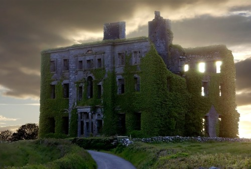 An old abandoned mansion near Galway, Ireland by elementalist