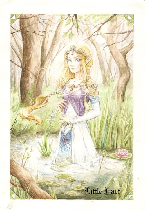zelink-fans:  Princess Zelda by ~Queen-of-cydonia