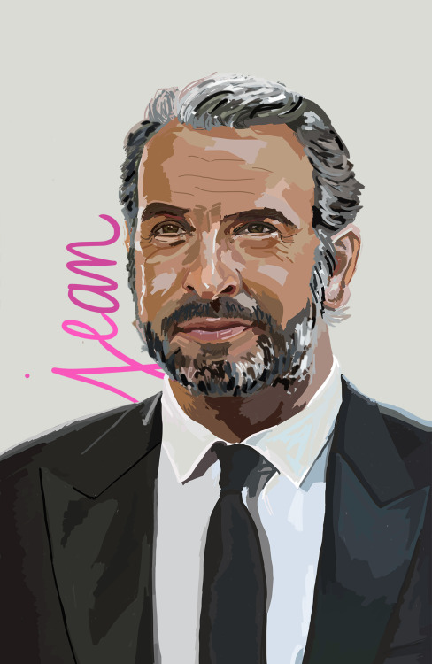 Jean Dujardin. First of a series of portraits on inspiring artists. Digital painting.