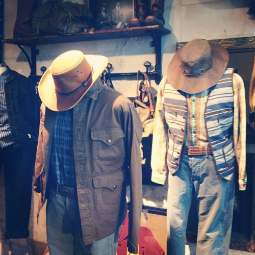 Sleeping cowboys at the #rrl space at #tenuedenimes - #style #denim #ralphlauren http://bit.ly/15U8a1P