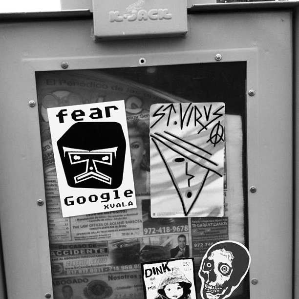 Fear Google Magazine Machine #xvala #data #geek  #fear #google #sticker