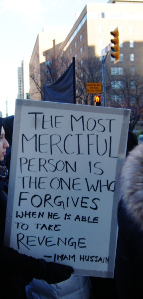 revolutionizethesoul:   Downtown Toronto, Canada The most merciful person is the one who forgives when he is able to take revenge-Imam Hussain (as)