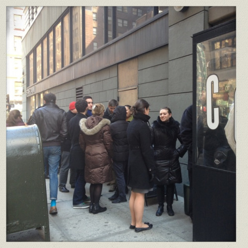 @macaroncafenyc: Excitement in the line for Macaron Day!