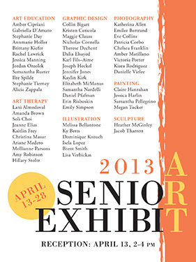 The card for the Senior Art Exhibition.  Goddamn.  It's happening.