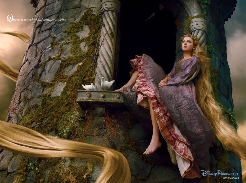 Taylor Swift as Rapunzel for Disney Dream Portrait. Photo by Annie Leibovitz (x)