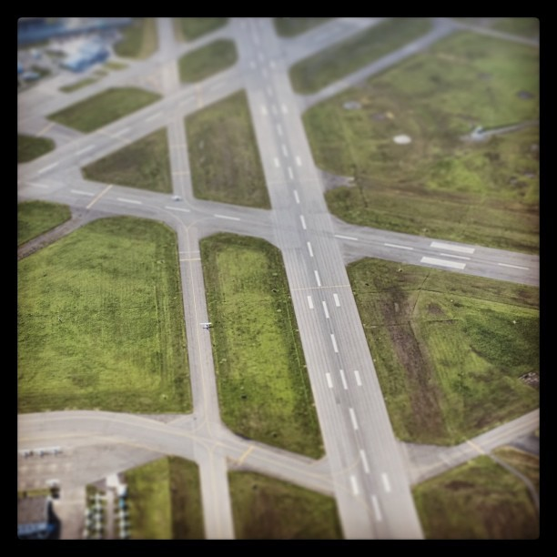 Victoria airport from the air. #iphonephotography #victoria #airport
