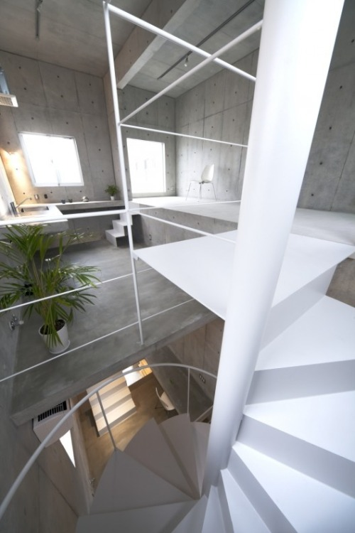 justthedesign:  Staircase At The Komada Architects' Office Photography By Toshihiro Sobajima