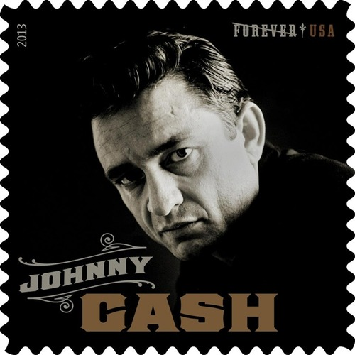 jffcrmr:  Johnny Cash immortalized on new US Postal Service stamp  Totally buying these.