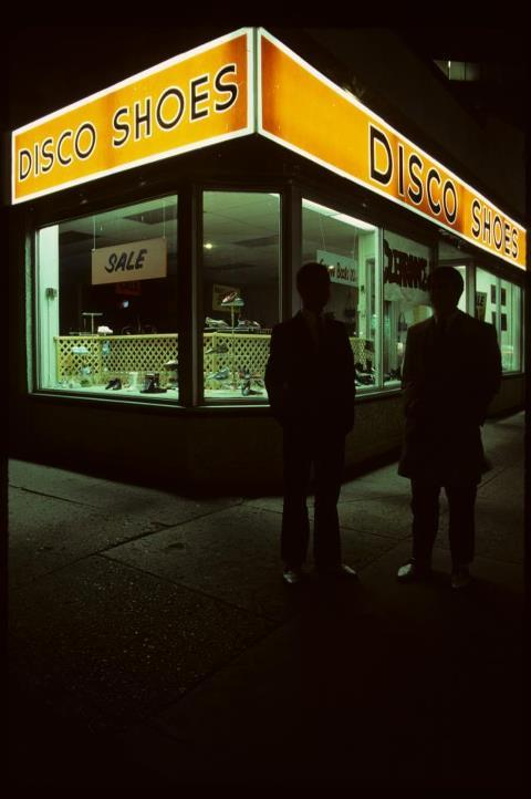 "Disco Shoes, now ""When Pigs Fly,"" Whyte Avenue, Edmonton, Alberta, 1984."