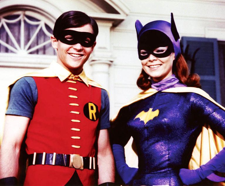 vintagegal:  Burt Ward and Yvonne Craig as Robin and Batgirl for the Batman TV seres, 1960s